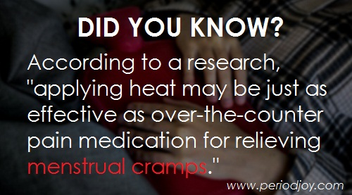 Heating pad helps menstrual cramps