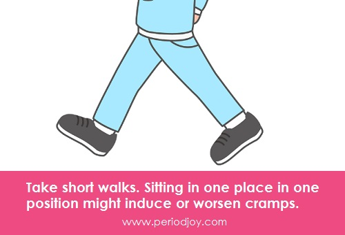 Take a walk when you have cramps at school