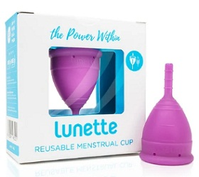 Lunette menstrual cup for women with IUD